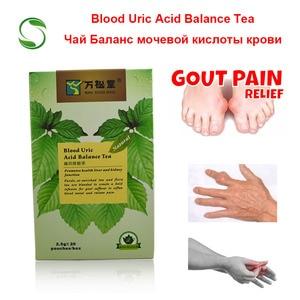Image 1 - 40 adet/2 paket kan ürik asit dengesi çay eklem ağrısı için ödem inflamasyon gut tedavi azaltmak yağ saf doğal otlar çay