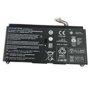 AP13F3N 6280mAh Laptop Battery For Aspire S7-392 S7-392-9890 S7-391-6822 Ultrabook AP13F3N 2ICP4/63/114-2 7.5V 47WH