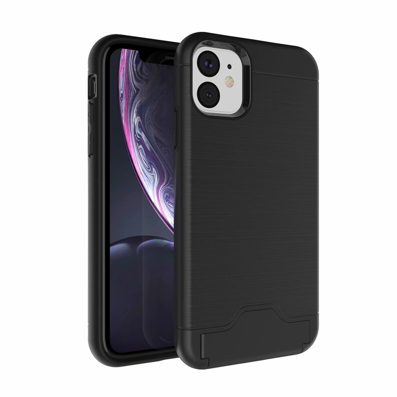 iPhone 11 Pro XR XS Max6 6s 7 8 Plus Phone Cases brushed card holder Super Antishock Capa Coque Cover 1