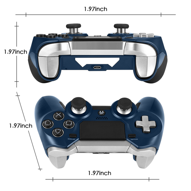 PS4 Gamepad,Dual Vibration Elite PS4 2.4G Wireless Game Controller Joystick for Play Station 4 Video Gaming Console and PS3 5