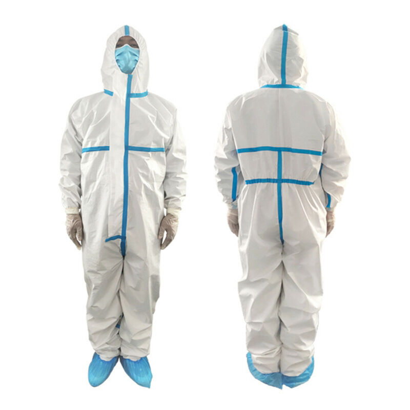 Professional Medical PPE Suit Water Dwaterproof  Suit Protective Clothing With CE FDA Certification