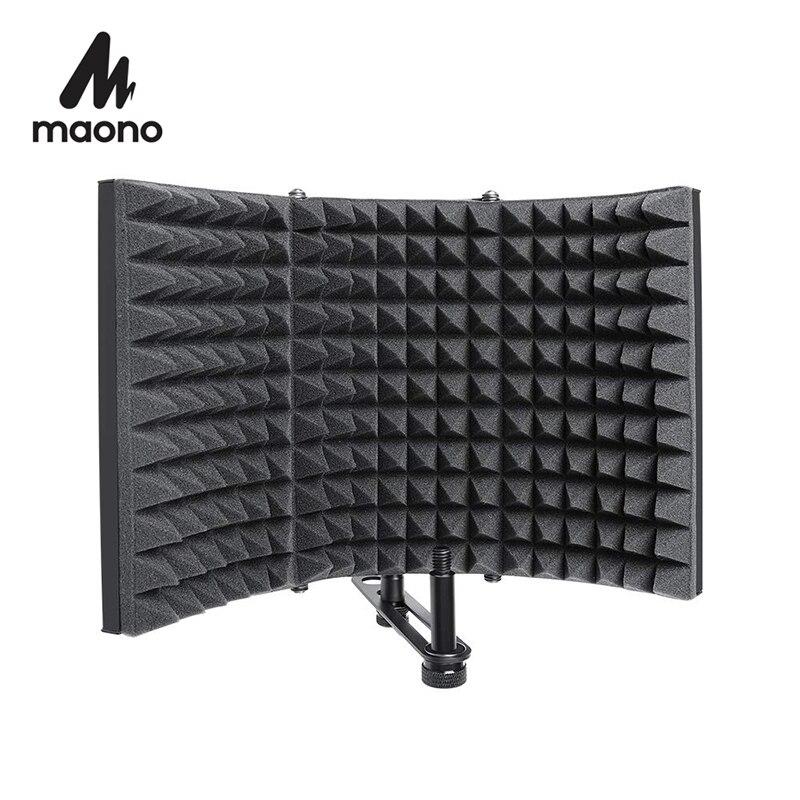 ไมโครโฟนแบบพับเก็บได้ Acoustic Isolation SHIELD Alloy โฟมอะคูสติกแผงสตูดิโอบันทึกไมโครโฟนอุปกรณ์เสริม