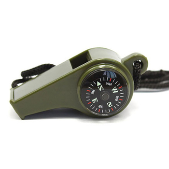 1Pcs Outdoor Whistle Compass Thermometer 3 In 1 Camping Hiking Accessory Multi-Functional Survival Tools Nylon Neck Rope Compass 6