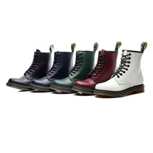 Women Boots Genuine Leather Ankle MartensBoots Wome