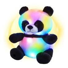 LED Luminous Animal Panda Stuffed Pillow Glow Soft Plush Toys Light Up Glowing Colorful Cushion Stuffed Doll Light Toys for Kids
