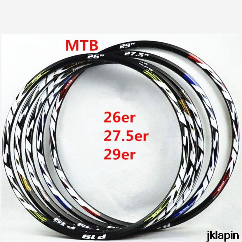 MTB Rims Mountain Bike Rims 26/27.5/29inch Disc Brake Aluminum Bicycle Rim Tryall 24/32 Holes Double-deck Circles wheels