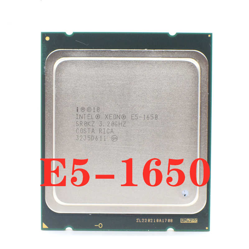 Original Processor Intel Xeon E5 1650 Six Core 3.2GHz LGA 2011 TDP 130W 12MB Cache 32nm E5-1650 Desktop Server CPU