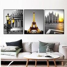 Poster e stampe nordici pittura su tela Love city Gioia Wall Art Liberty immagine bianca nera decorazione domestica per soggiorno