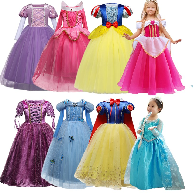 Disney Princess Dress Anna Frozen with Glitter /& Gems Long Sleeve MSRP $38.00