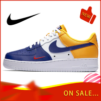 Original Authentic Nike Air Force 1 Low Mini Swoosh Men's Skateboard Shoes Classic Fashion Outdoor Sports Shoes New 823511 404