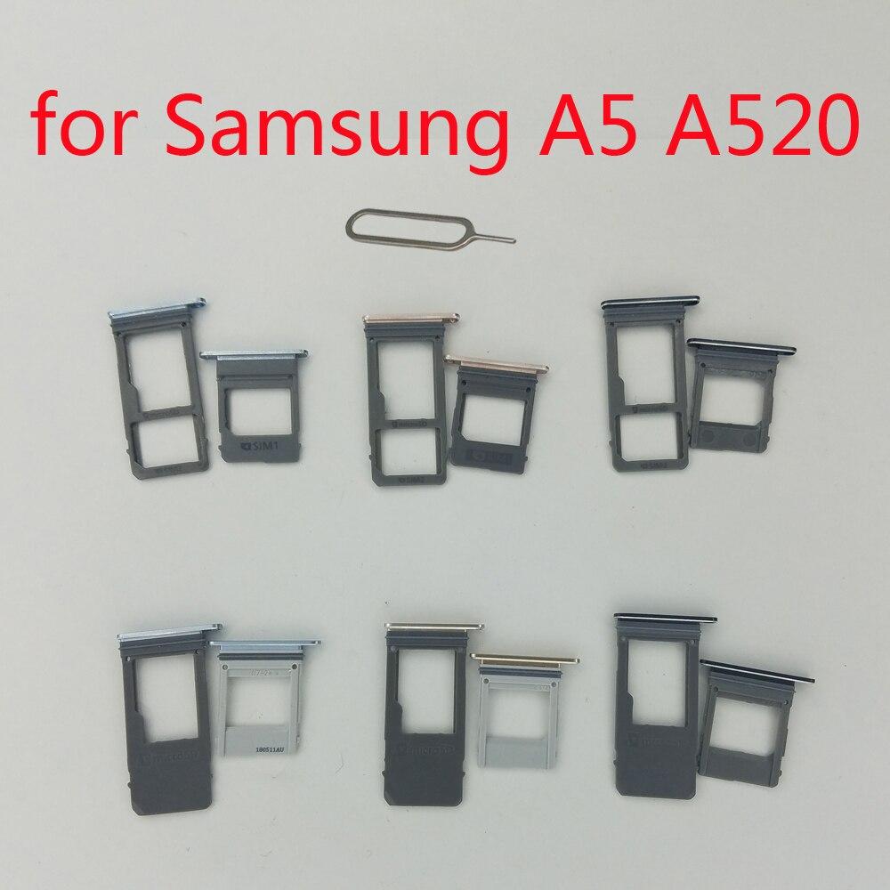 SIM Card Tray Holder For Samsung A5 2017 A520 Galaxy A520F A520K A520L Original Phone Housing New Micro SD SIM Card Adapter Slot