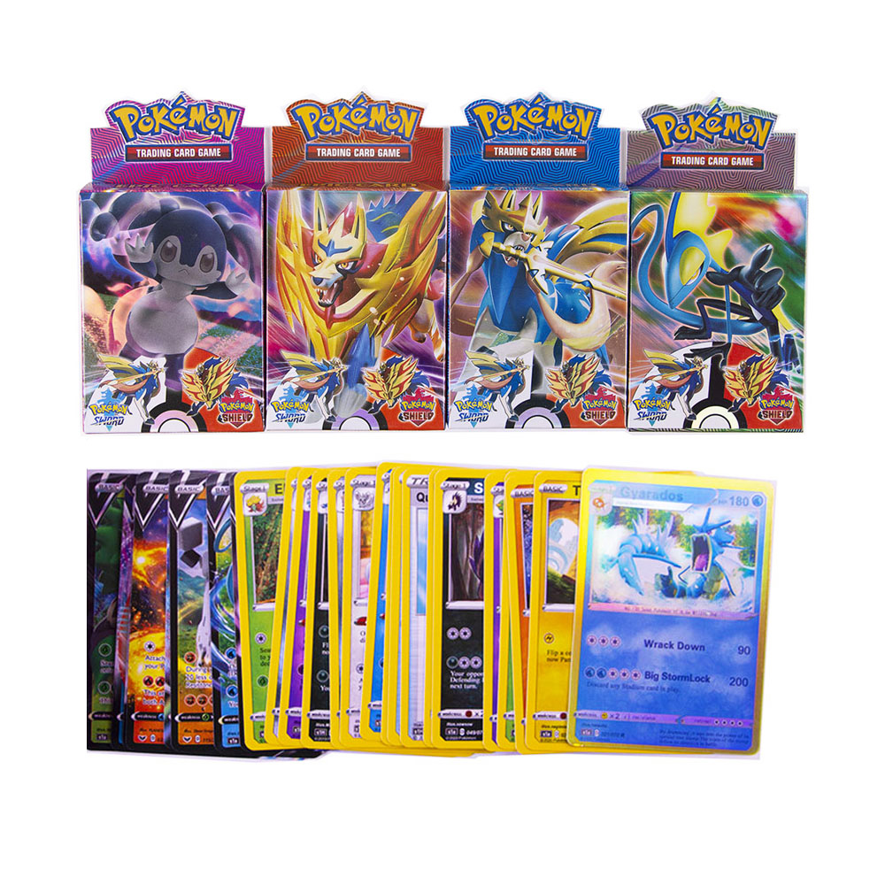 Newest 25pcs/box Pokemon TCG: Sword & Shield Vmax Cards Trading Card Game Kids Toys