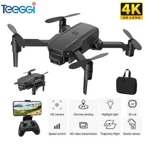 Teeggi KF611 Mini Drone With 4K HD Camera 1080P WiFi FPV RC Drones Foldable Drone Altitude Hold RC Quadcopter Quadrocopter Kid