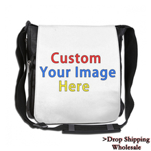 Customize Your Image Logo Canvas Handbag Women Female Tote Messenger Ba