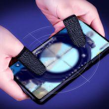 A пара мобильный телефон игра палец рукав комплекты анти-пот многоразовый противоскользящий дышащий полный пресс экран палец набор для PUBG