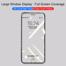 15D Full Cover Protective Tempered Glass On The For Iphone 7 8 Plus 7+ 8+ Screen Protector Glass For Iphone 6 6s Plus Film 6+ S(China)