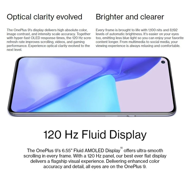 Global Rom OnePlus 9 5G Mobile Phone Android 11 Snapdragon 888 8GB 128GB 6.5'' 120Hz Fluid AMOLED Hasselblad Camera Smartphone 3