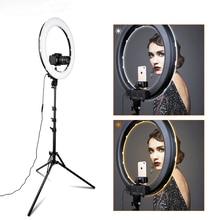 """Travor 18 """"LED anneau lumière 512 pièces LED Dimmable photographie anneau lampe Photo lumière anneau pour YouTube maquillage ringligt"""