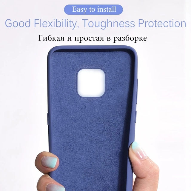 Original Liquid Silicone Phone Case For Huawei P30 P20 P40 Mate 20 30 Honor 20 Lite Pro P Smart 2019 Luxury Soft Protector Cover 6