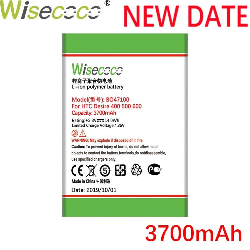 BO47100 WISECOCO 3700mAh Bateria Para HTC Desire 400 500 600 Dual SIM 609d 5088 5060 C525c C525E T528 T606W T608T bateria Do Telefone