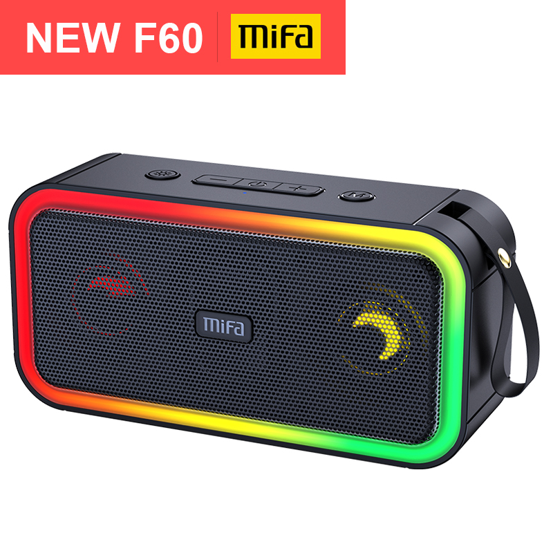 mifa F60 40W Output Power Bluetooth Speaker with Class D Amplifier Excellent Bass Performace Hifi speaker,IPX7 waterproof|Portable Speakers| - AliExpress