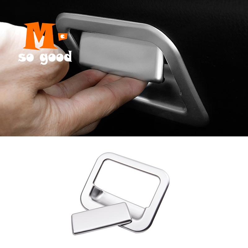 ABS Matte Interior Glove Storage Box Handle Box Cover Trim Sticker for <font><b>Toyota</b></font> <font><b>RAV4</b></font> RAV 4 2014 2015 2016 2017 <font><b>2018</b></font> <font><b>Accessories</b></font> image