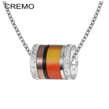 Cremo Fashion Crystal Pendants Necklaces Steel Chain Necklace Women Interchangeable Charm Combination Pendant Femme Bijoux