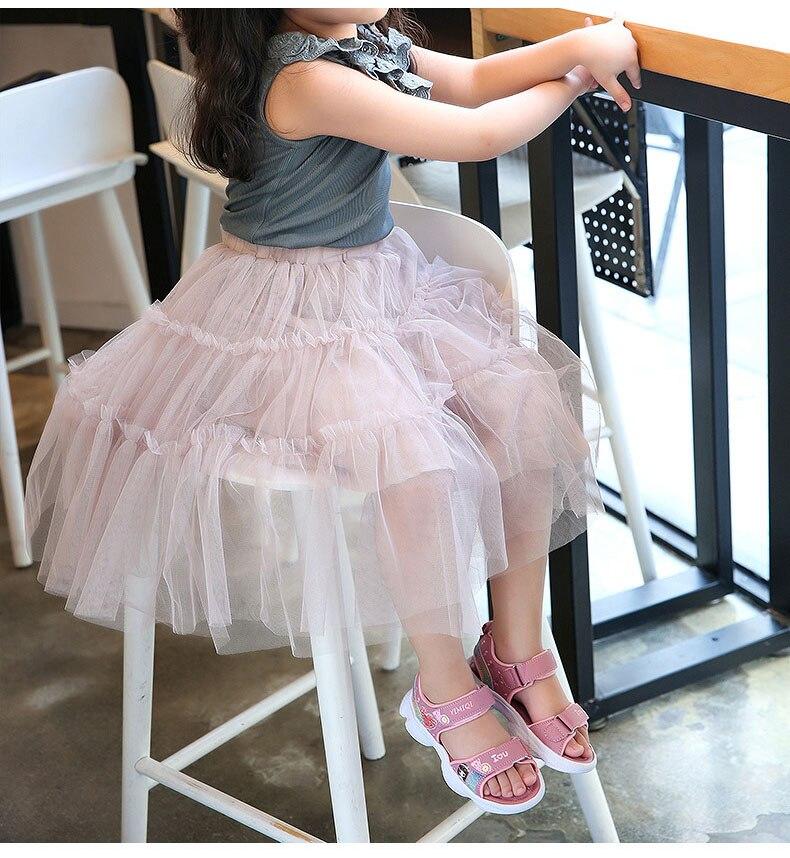Crianças sandálias macio princesa sandálias de pouco
