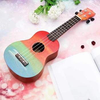 Ukulele Hand-Painted Combo 21 Ukulele Black Soprano 4 Strings Uke Bass Stringed Musical Instrument Perfect for Beginners ukulele 21 inch soprano ukulele uke sapele 15 fret four strings brown musical instrument