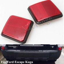 Автомобильный задний бампер отражатель Предупреждение светильник для Ford Escape Kuga 2005 2006 2007 задний отражатель лампы высокого качества, новое поступление