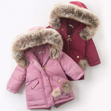 Winter Jackets For Baby Girls Clothes 2019 Warm Kids Cotton Hooded Outwear Boys Jacket Children
