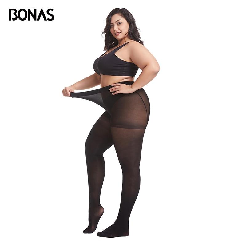 BONAS 80D Tights Plus Size 100KG Velvet Pantyhose Warm Elasticity Spandex Resistant Women's Stockings Collant Femme Sexy Top 3XL