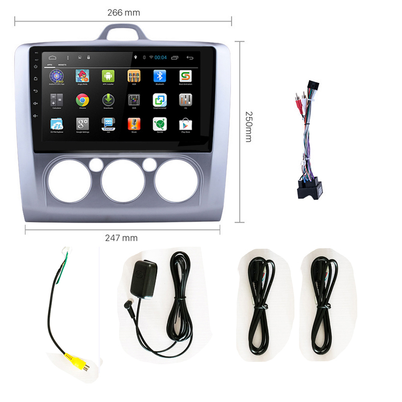 2 din AutoRadio Android 9.0 2Din Car Radio For <font><b>Ford</b></font> <font><b>Focus</b></font> 2 Exi MT 2004 <font><b>2005</b></font> 2006-2008 2009 2010 2011 2012 <font><b>GPS</b></font> screen Head Unit image