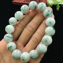 13.5mm Natural Jade A Bracelets Gemstone Crystal Stretch Round Beads Stone For