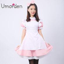 Umorden Pink Women Maid Maids Cosplay Clothing Wonderland Alice Costume Costumes Fancy Lolita Dress