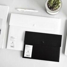 Envelope-Folder Organizer Document Plastic-Storage Size with Snap-Button Closure Bag