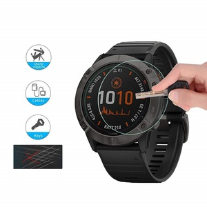 Image 2 - VSKEY 100pcs Tempered Glass for Garmin Fenix 6 Round Smart Watch Screen Protector Garmin Fenix 6s 6X Protective Film