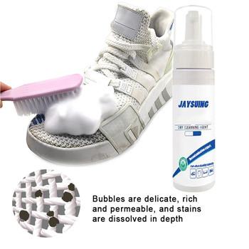 Wielozadaniowa bezwodna odzież pianka oczyszczająca środek bez płukania płynne białe buty Cleaner 100ml buty pielęgnacja Sneaker Cleaner #3 tanie i dobre opinie CN (pochodzenie) Czyszczenie Płynna 1 pc 80 ml