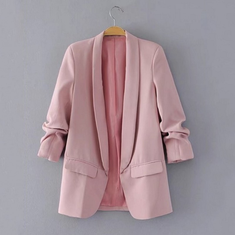 Blazer Women Professional Slim Suit Collar Casual Spring /autumn Plus Size Suit Jacket Female Office Womens Jackets and Coats