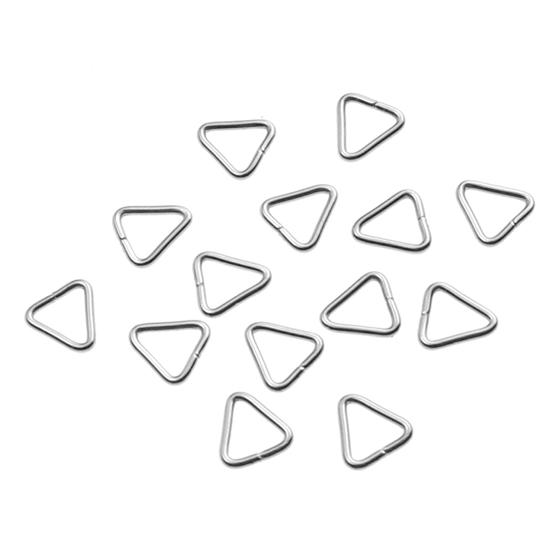 100pcs/lot Jewelry Making Findings Triangle Open Jump Rings Split Rings DIY Handmade Jewelry Stainless Steel Connector Supplies