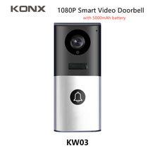 Видеодомофон konx kw03 1080p h264 с поддержкой wi fi и ИК подсветкой