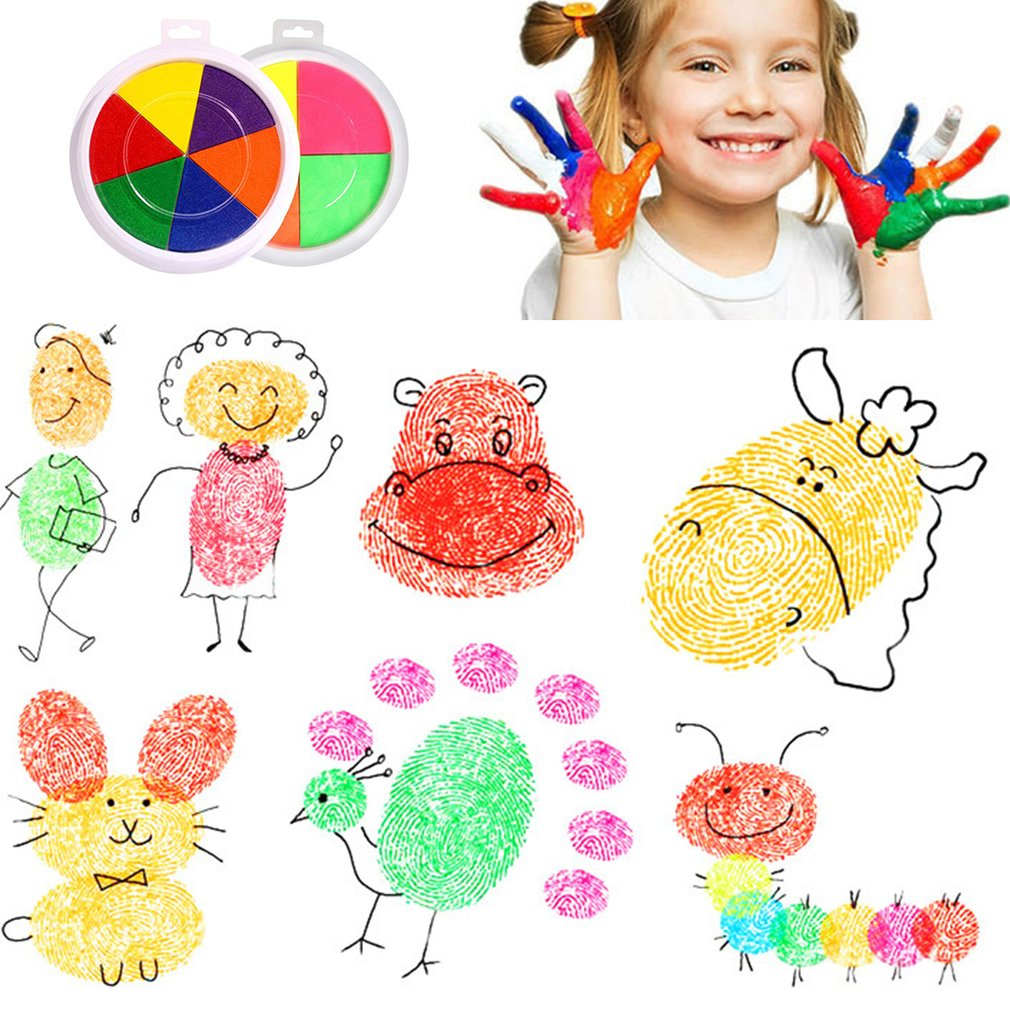 Baby Finger Painting Ink Mud Creative Toys DIY Color Ink Pad Kindergarten Palm Ink Safety Non-toxic Children Finger Paint Gift