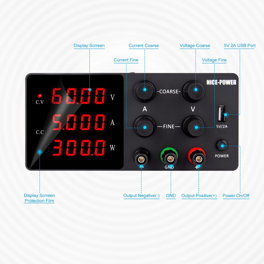 IVYTECH 120V 3A 60V 30V 10A 5A Adjustable Switching DC Lab Bench Power Supply LCD Screen Digital Regulated Modul Laboratory-1