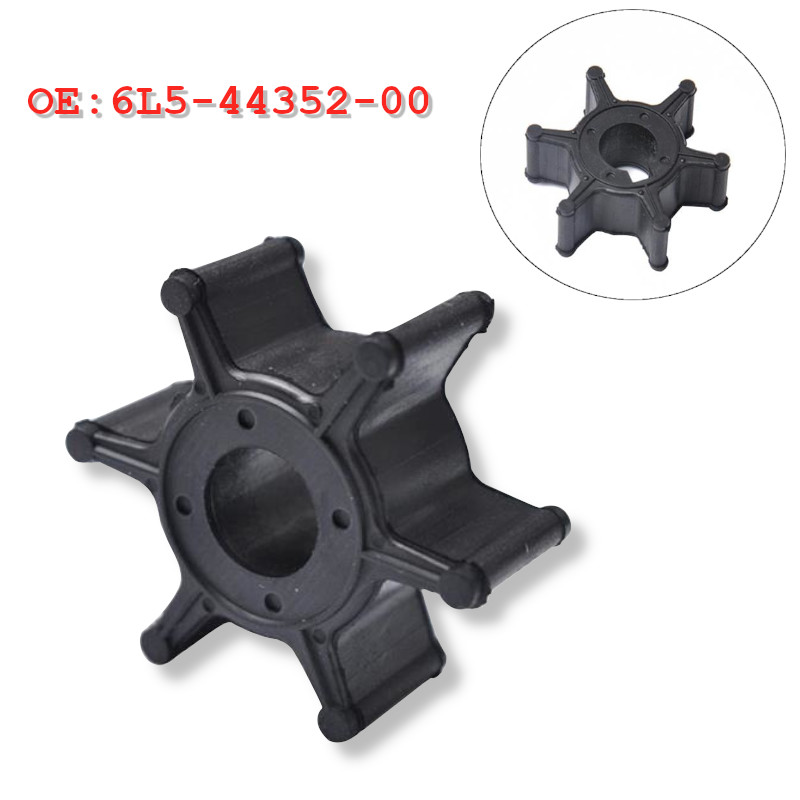 1Pcs Boat Engine Impeller 6L5-44352-00 6L5-44352-00-00 Fit for Yamaha 3HP 2.5HP 3A F2.5A Outboard Motor Water Pump
