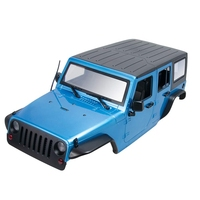 Unassembled 12.3Inch 313mm Wheelbase Body Car Shell for 1/10 RC Crawler Jeep Wrangler Axial SCX10 & SCX10 II 90046 90047,Blue