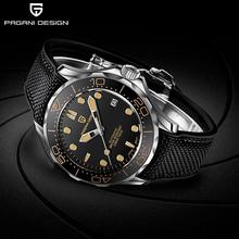 PAGANI DESIGN nowa marka modowa silikonowe męskie zegarki automatyczne Top 007 dowódca mężczyźni zegarek mechaniczny japonia NH35A zegarki tanie tanio BENYAR 10Bar CN (pochodzenie) Skórzany pasek Luxury ru Samoczynny naciąg 22cm STAINLESS STEEL podświetlenie Odporna na wstrząsy