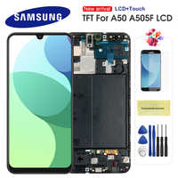 For Samsung Galaxy A50 LCD Display Touch Screen Digitizer Assembly with Frame For Samsung galaxy a5 2019 A505F/DS A505F A505FD
