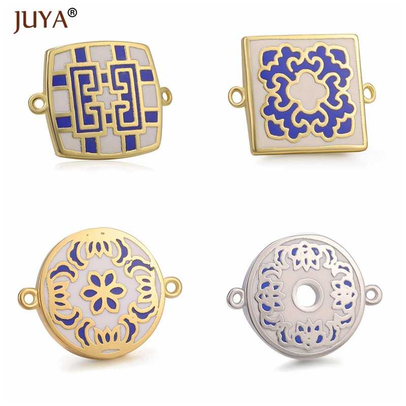 2019 Newest Square Shape Colour Enamel Charms For Jewelry Making Accessories DIY Bracelets Necklaces Earrings