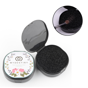 1 piece Makeup brushes cleaner Remover Color Off Make up Brushes Cleaning plastic Box Powder Brush Wash Cosmetic Clean Kits