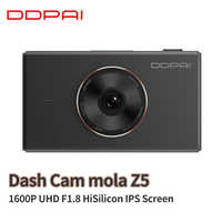Global Xiaomi Mijia DDPai Dash Cam mola Z5 DVR 1600P UHD F1.8 HiSilicon 24H Parking Monitor 3 Inch IPS Touch Screen APP WIFI